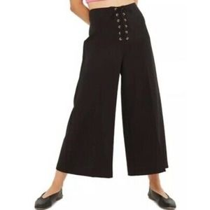Topshop Lace Up Closure Gaucho Crop Pants
